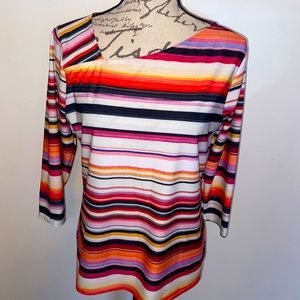 💕Peck & Peck Bright Striped Fun Top